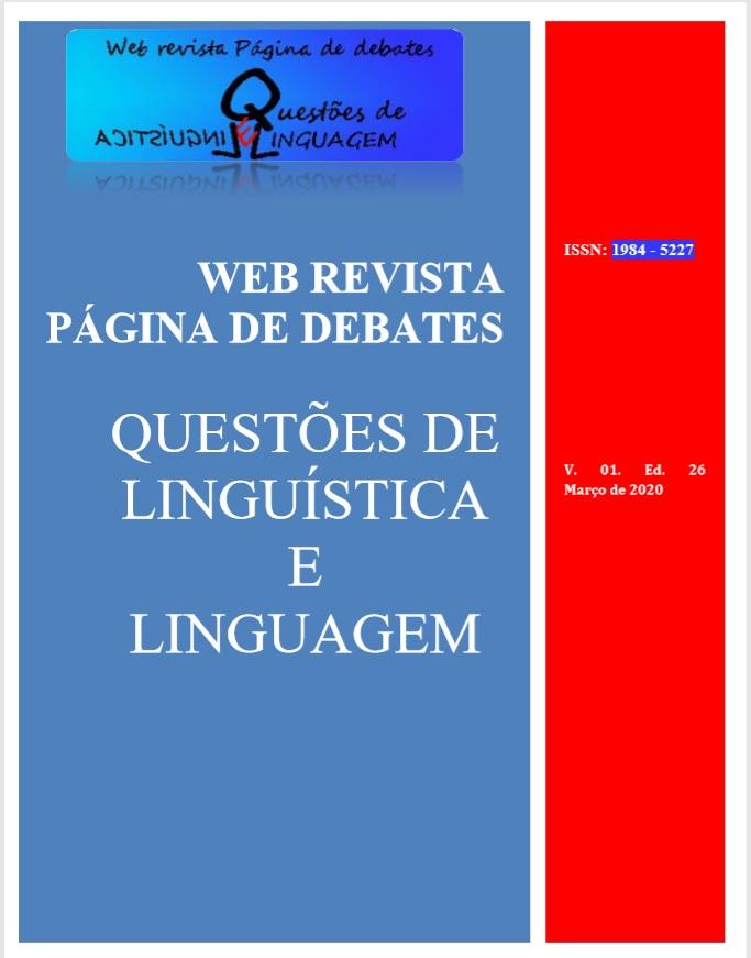 capa da Web Revista Página de Debates: Questões de Linguística e Linguagem edição 26